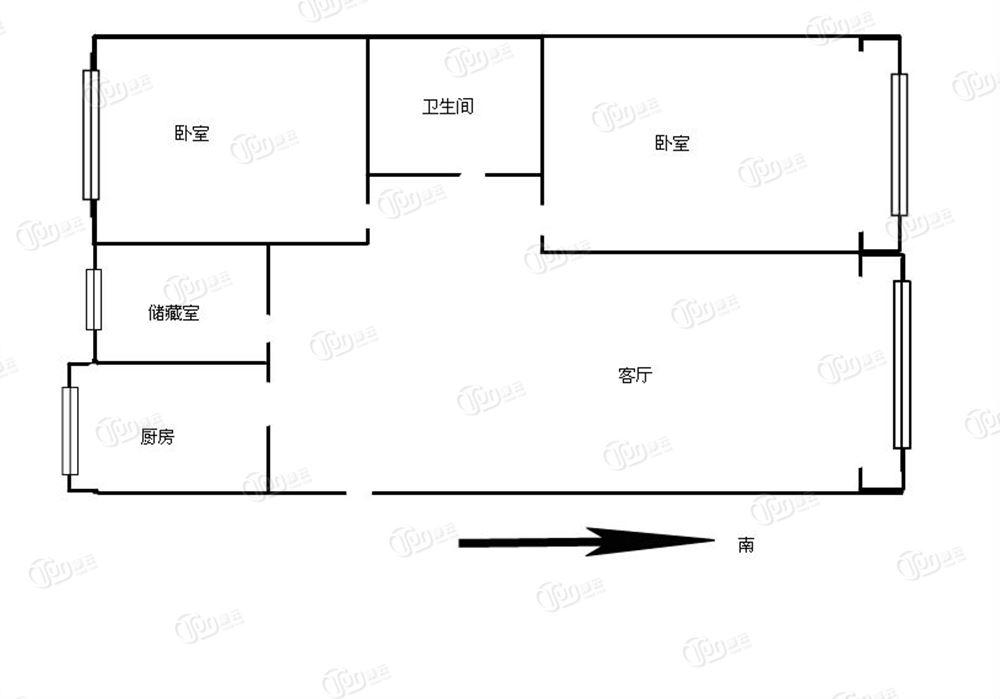 万达广场尚东馨园-户型图