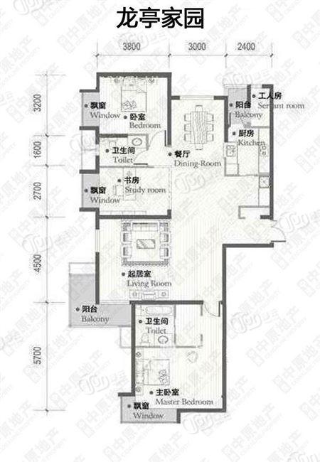 长华玉带家园户型图