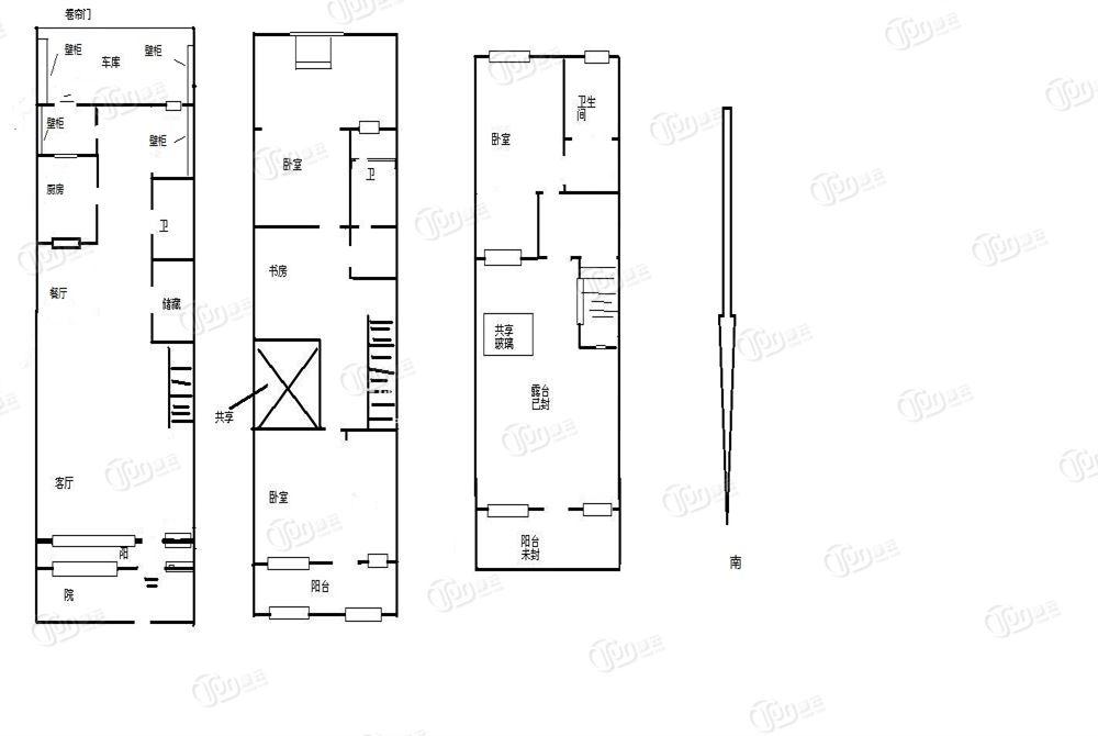 半岛蓝湾天睐园 两层半的联排别墅 精装修 业主诚心出售