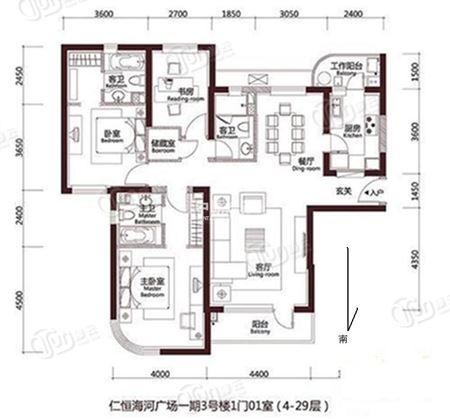 仁恒海河广场-户型图